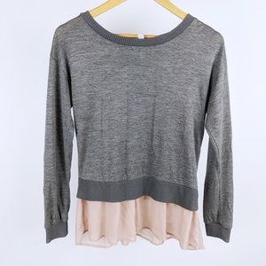 Xhilaration gray and pink top